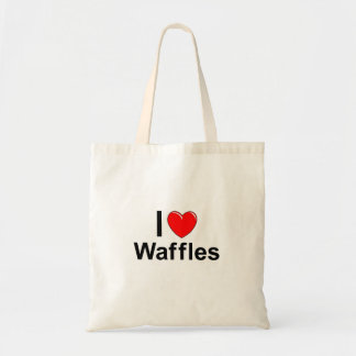 I Love Heart Waffles Tote Bag
