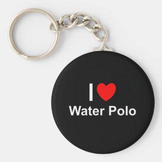 I Love Heart Water Polo Key Ring