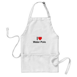 I Love Heart Water Polo Standard Apron