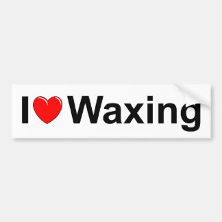 I Love (Heart) Waxing Bumper Sticker