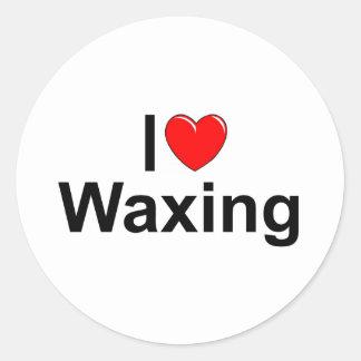 I Love (Heart) Waxing Round Sticker