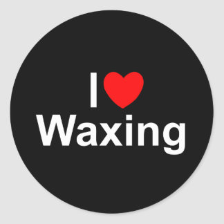 I Love (Heart) Waxing Round Sticker