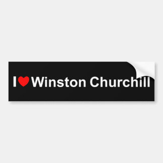 I Love (Heart) Winston Churchill Bumper Sticker