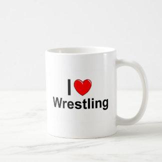 I Love Heart Wrestling Coffee Mug