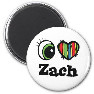I Love (Heart) Zach 6 Cm Round Magnet