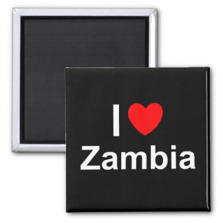 I Love Heart Zambia Magnet