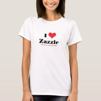 I love heart  Zazzle custom to promote your store T-Shirt