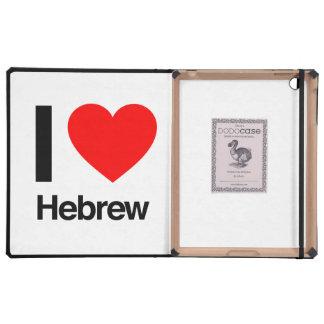 i love hebrew iPad case