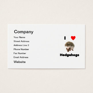 I love hedgehogs business card