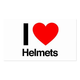 i love helmets business cards