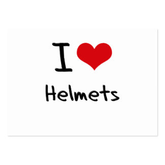 I Love Helmets Business Card Templates