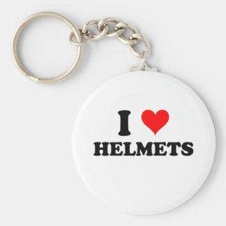 I Love Helmets Key Ring