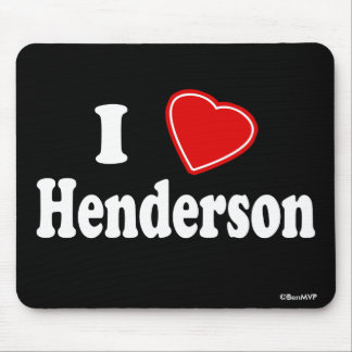 I Love Henderson Mouse Pad