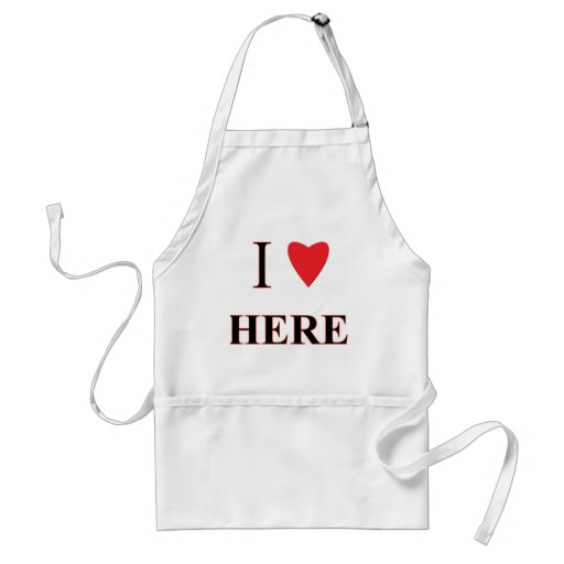 I Love Here Aprons