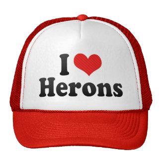 I Love Herons Cap
