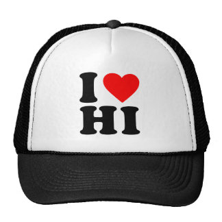 I LOVE HI MESH HAT
