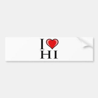 I Love HI - Hawaii Bumper Sticker