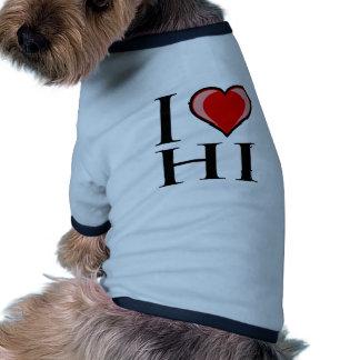 I Love HI - Hawaii Pet Shirt