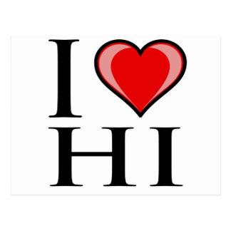 I Love HI - Hawaii Postcard
