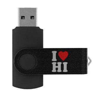 I LOVE HI SWIVEL USB 2.0 FLASH DRIVE