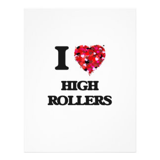 I Love High Rollers 21.5 Cm X 28 Cm Flyer