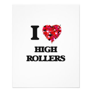I Love High Rollers 11.5 Cm X 14 Cm Flyer
