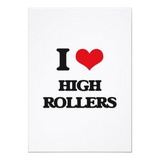 "I love High Rollers 5"" X 7"" Invitation Card"