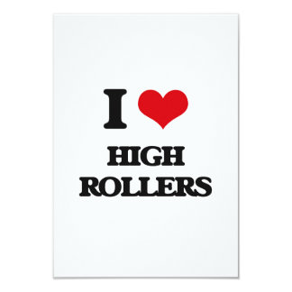 "I love High Rollers 3.5"" X 5"" Invitation Card"