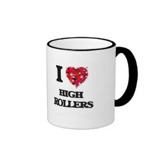 I Love High Rollers Ringer Mug