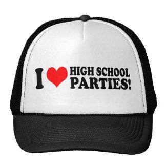 I love high school parties mesh hat