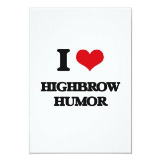 "I love Highbrow Humor 3.5"" X 5"" Invitation Card"