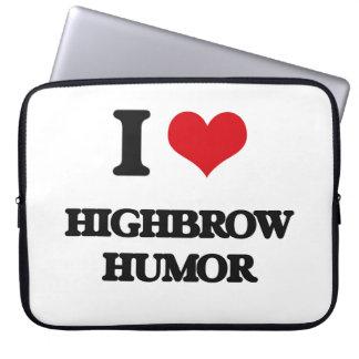I love Highbrow Humor Laptop Computer Sleeve