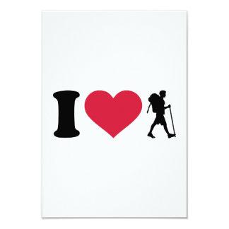 I love Hiking 3.5x5 Paper Invitation Card