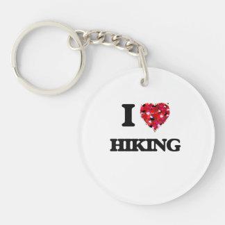 I Love Hiking Single-Sided Round Acrylic Key Ring