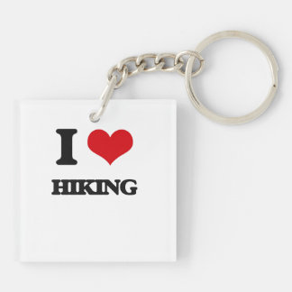 I love Hiking Acrylic Key Chain