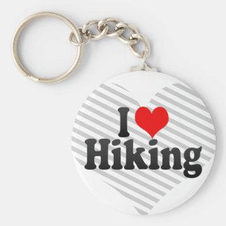 I love Hiking Key Chain
