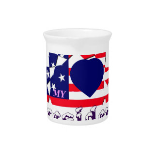 I love Hillary For USA President We are Stronger T Beverage Pitchers