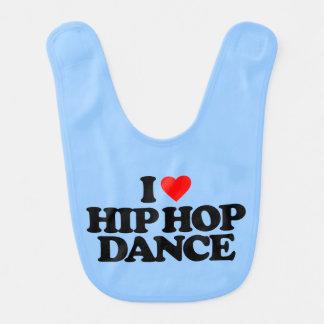 I LOVE HIP HOP DANCE BABY BIB