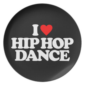 I LOVE HIP HOP DANCE PARTY PLATE