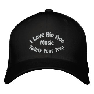 I Love Hip Hop Music Embroidered Hat