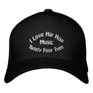I Love Hip Hop Music Embroidered Hat