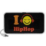 I love Hip Hop music smiley Doodle speakers