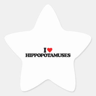 I LOVE HIPPOPOTAMUSES STICKER