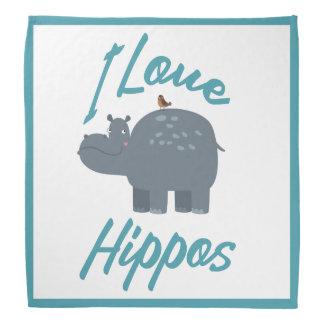 I Love Hippos Cute Kid Friendly Hippo Design Do-rag