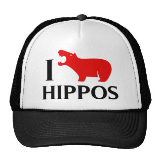 I Love Hippos Mesh Hat