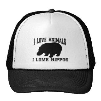 I love Hippos Trucker Hats