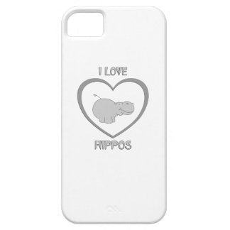 I Love Hippos iPhone 5 Covers