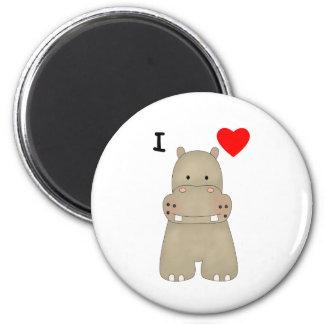 I Love Hippos Magnet