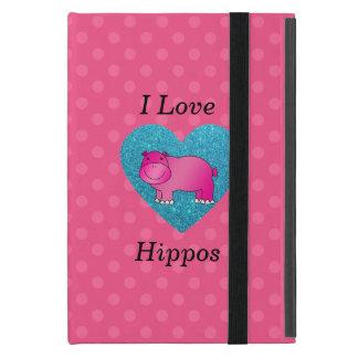 I love hippos pink polka dots iPad mini cover