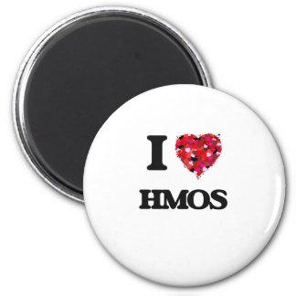 I Love Hmos 6 Cm Round Magnet